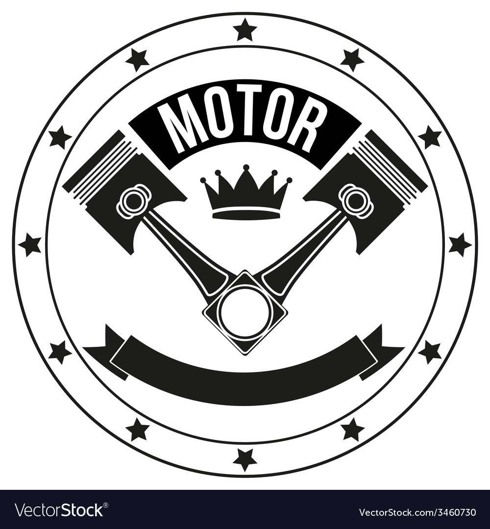 Vintage motor club signs and label vector