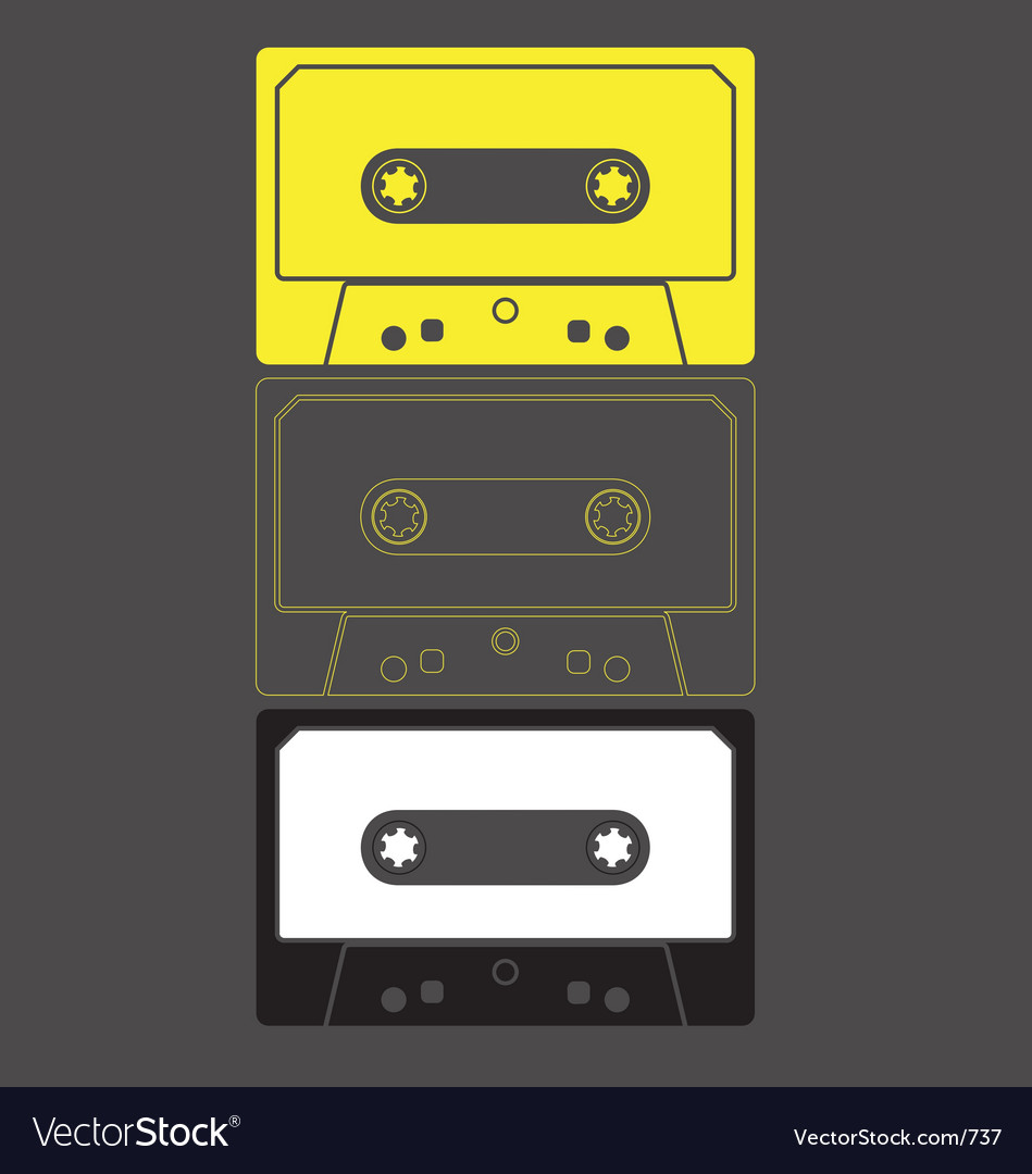 Audio cassette graphic vector