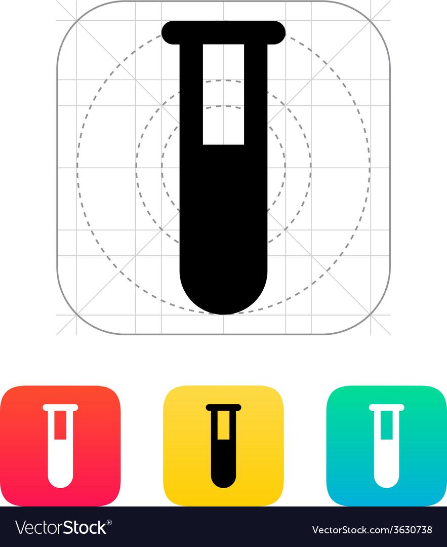 Full test tube icon vector