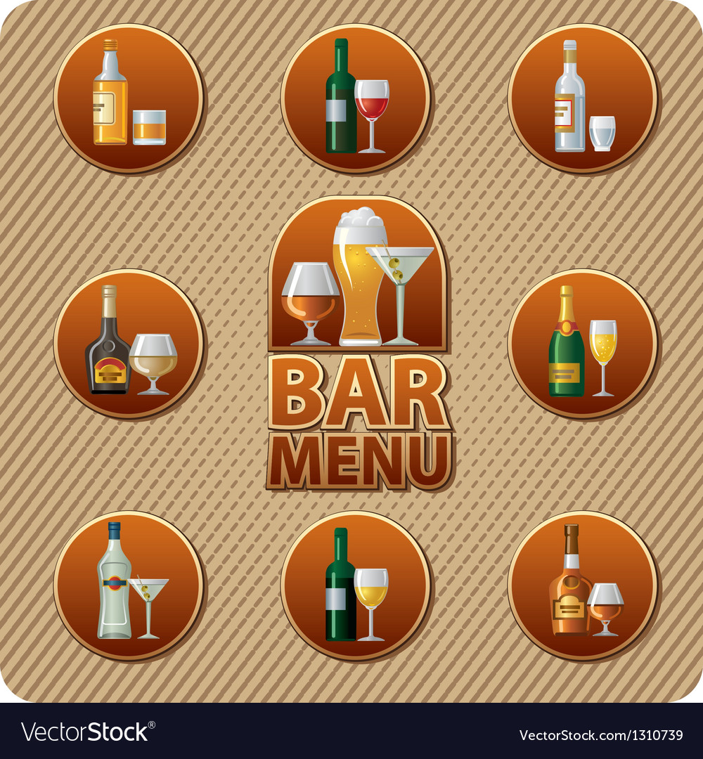 Bar menu icon vector