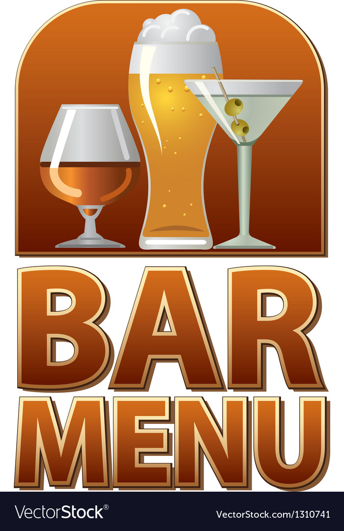 Bar menu sign vector
