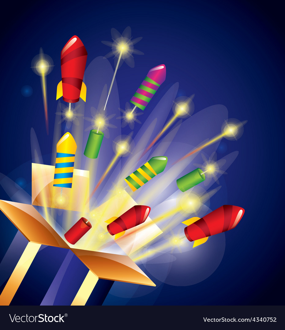 Pyrotechnic fireworks vector