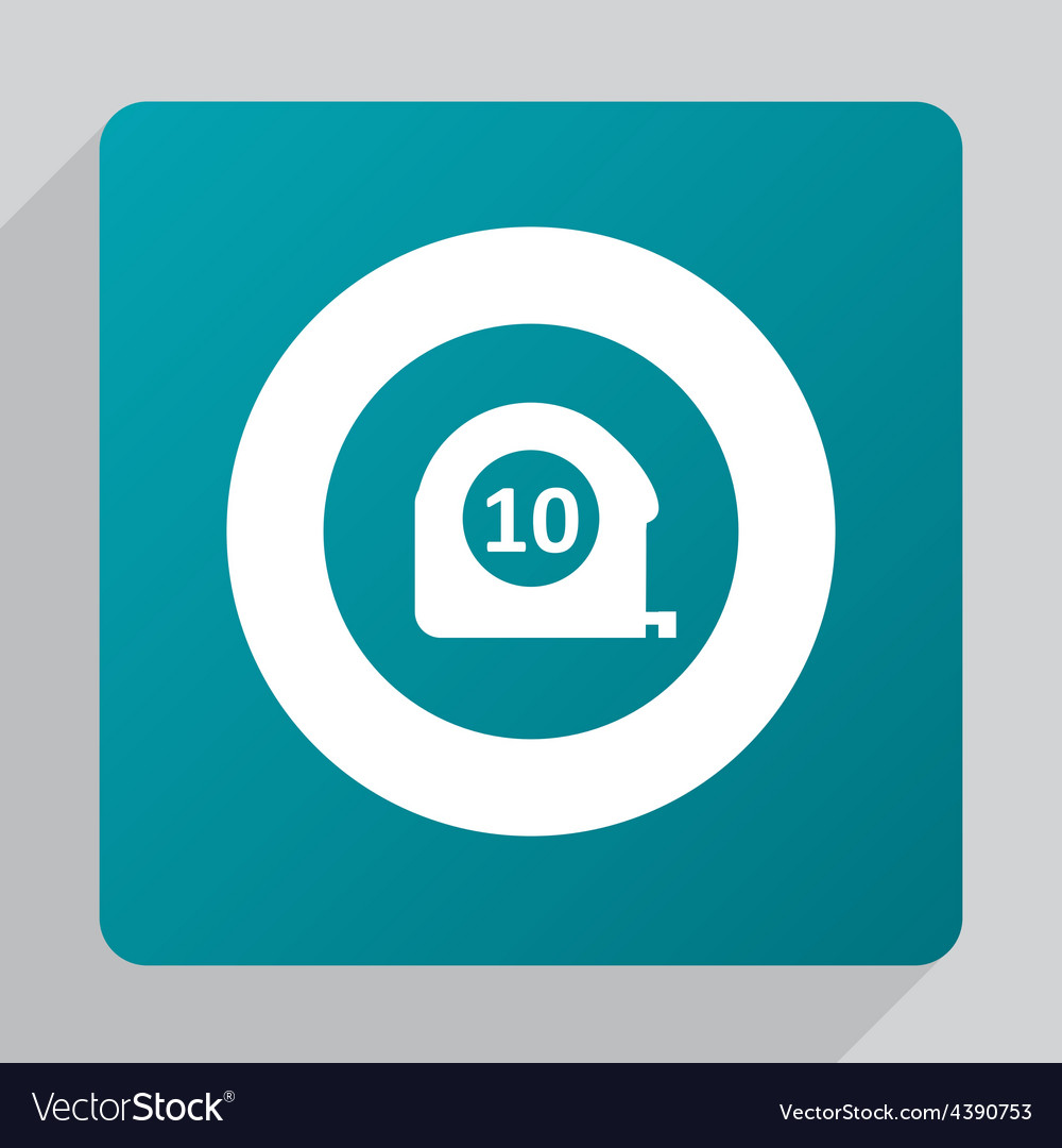 Flat measurement icon vector
