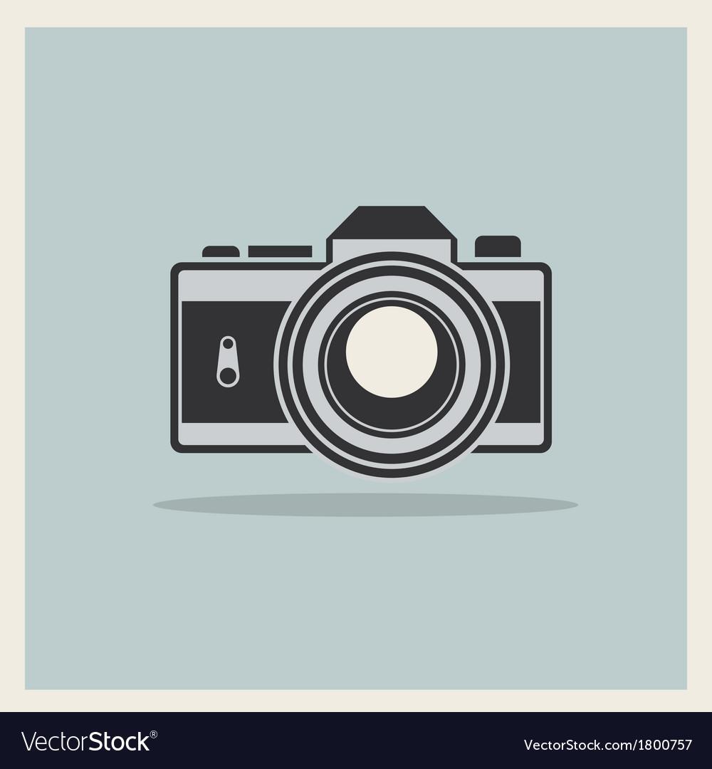 Dslr professional camera icon vector