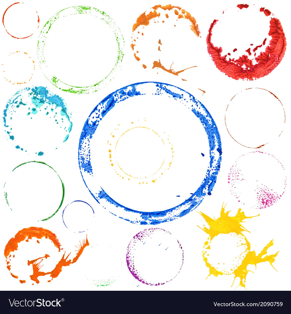 Multicolored paint circles vector