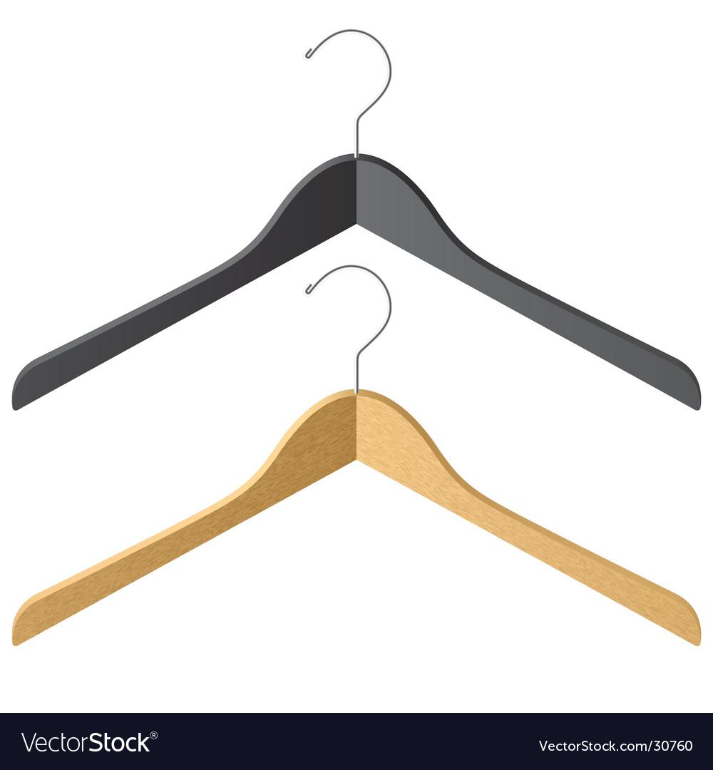 Clothes hanger vector