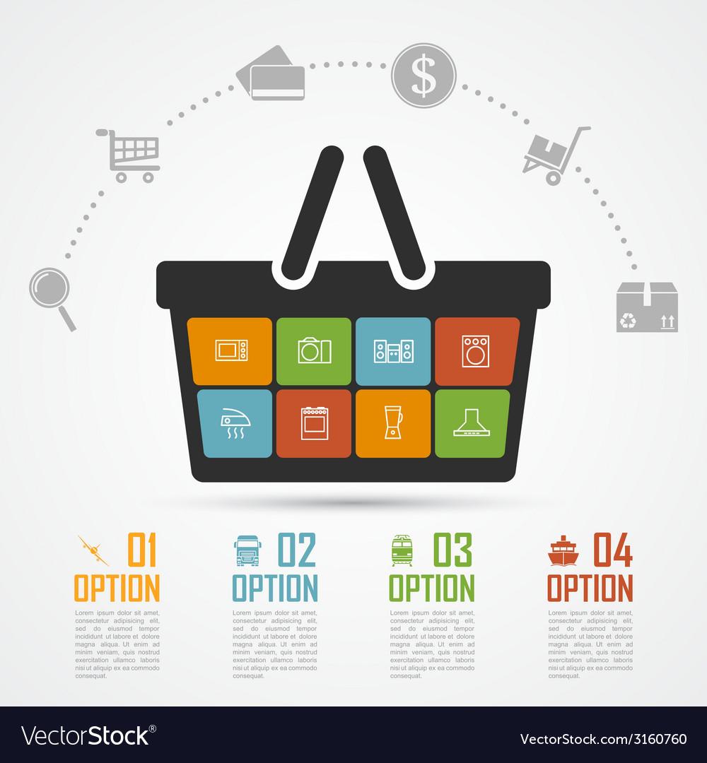 E commerce infographic 4 vector
