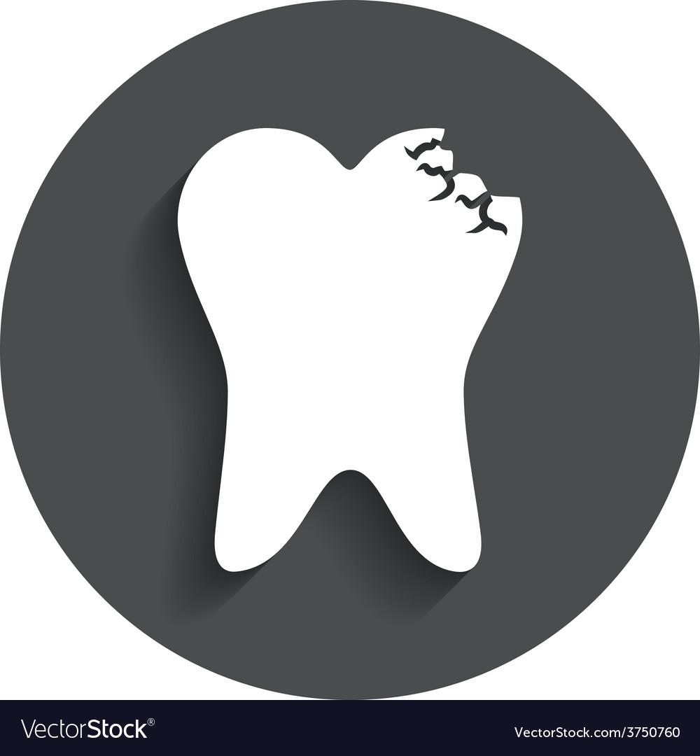 Tooth crystal sign icon dental prestige symbol vector