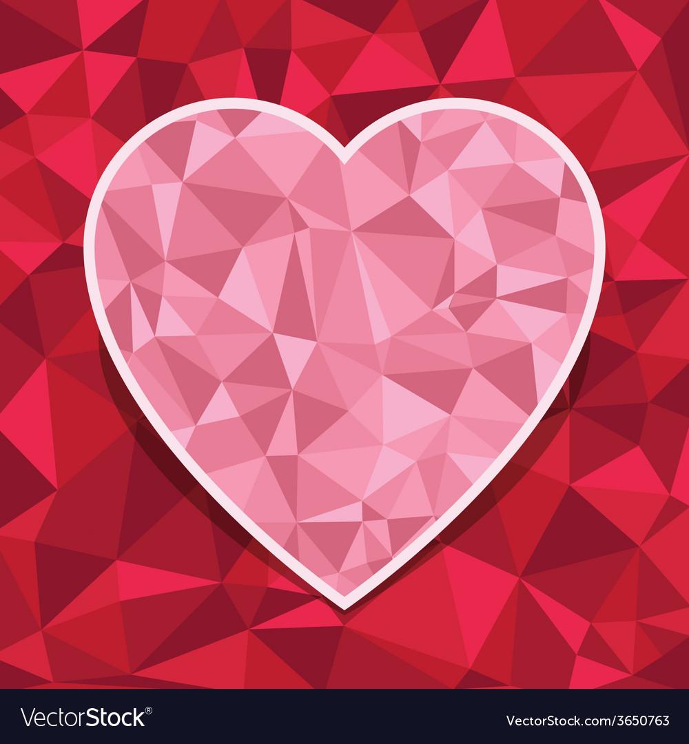 Heart decoration vector