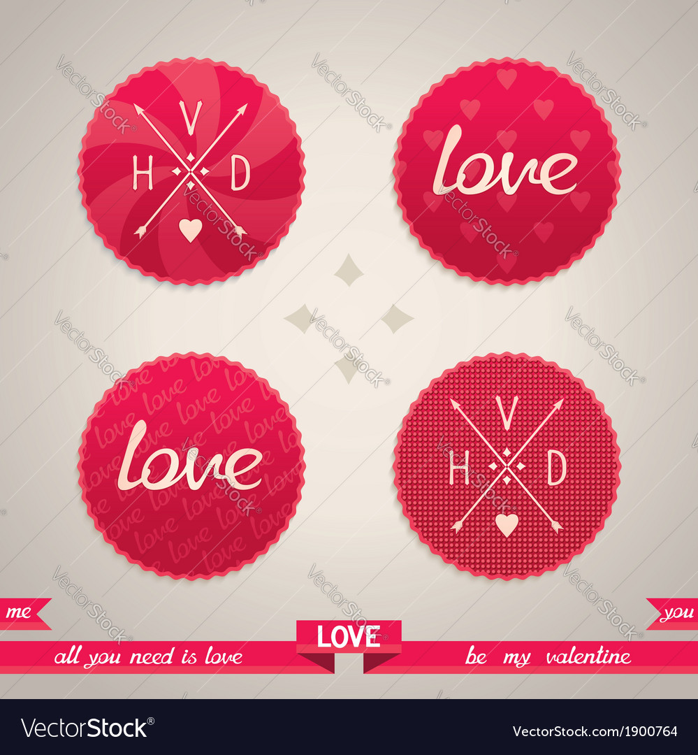 Valentines day design elements vector