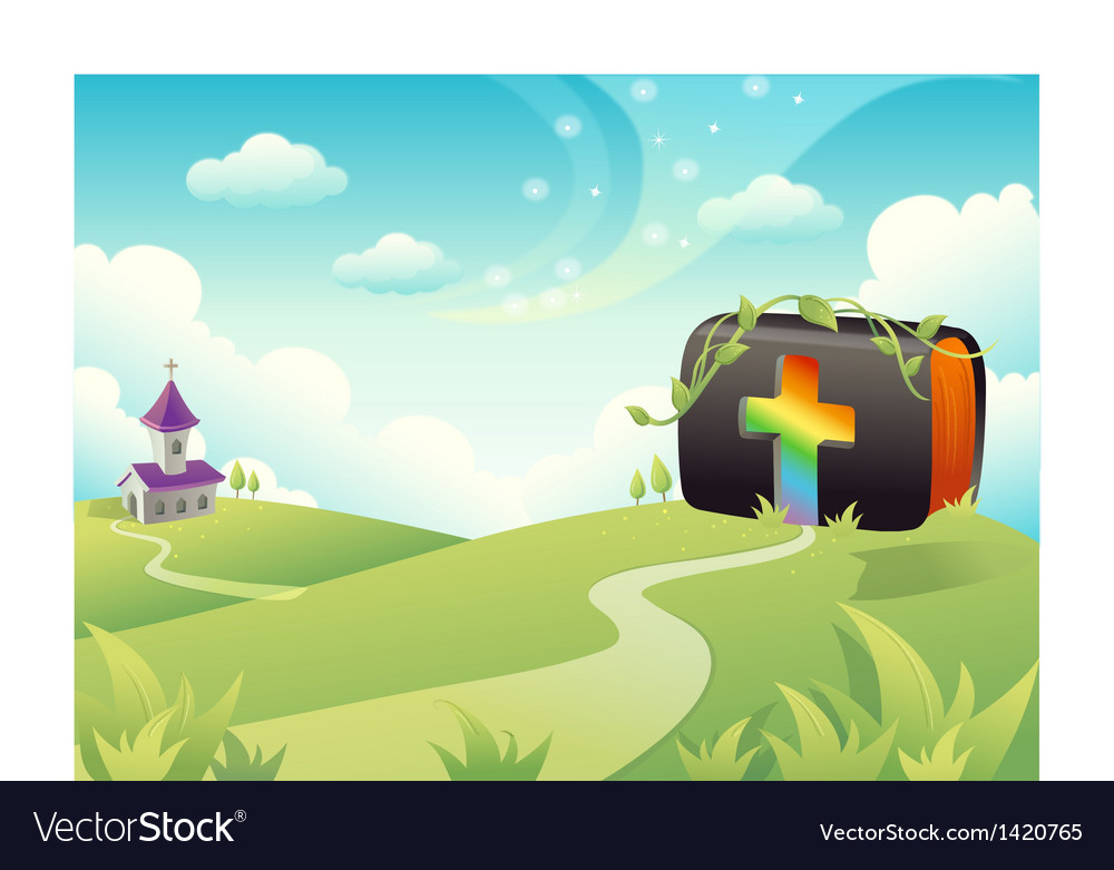 Church and cross vector
