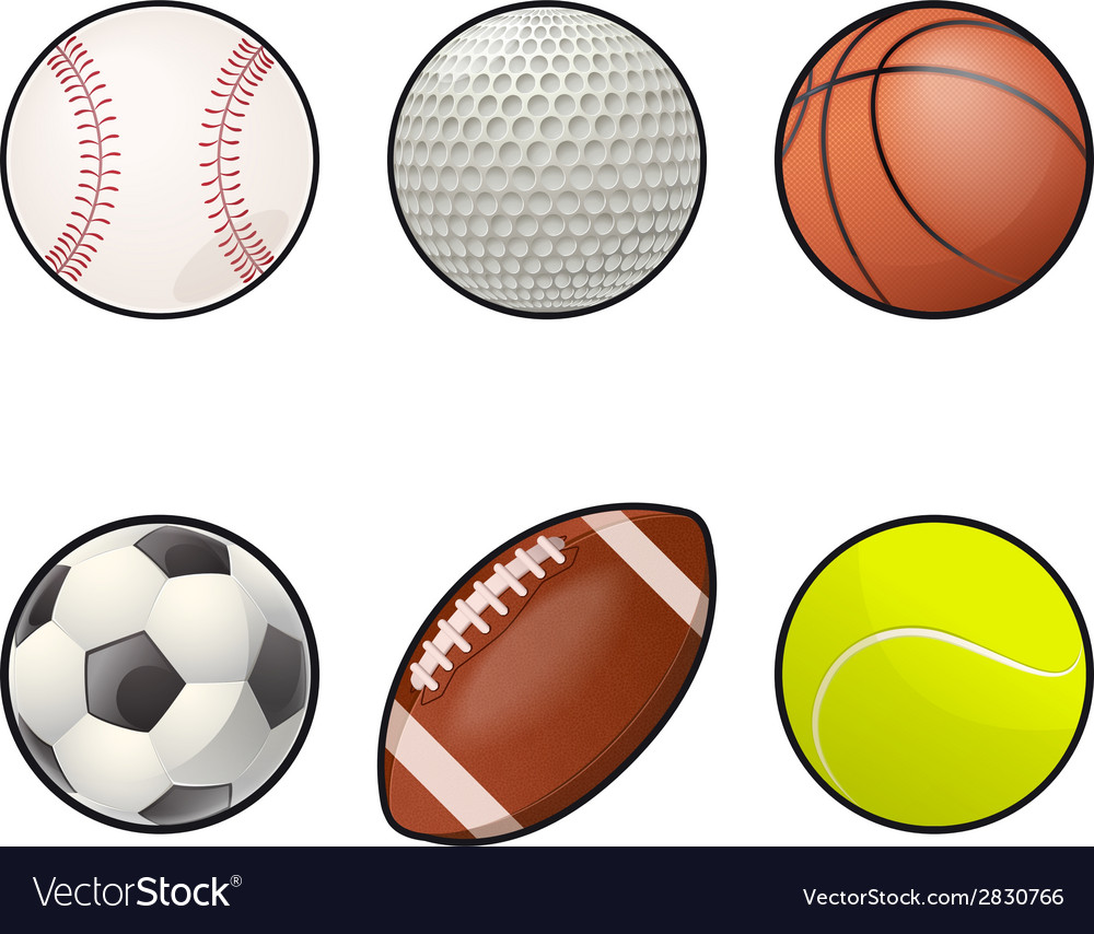 Ball icons collection vector