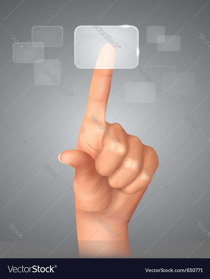 Touch screen concept vector