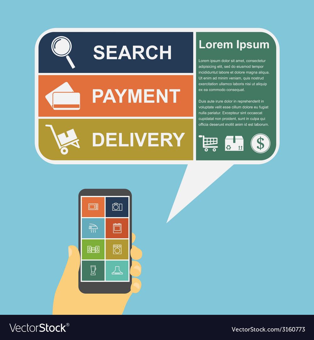 E commerce infographic vector