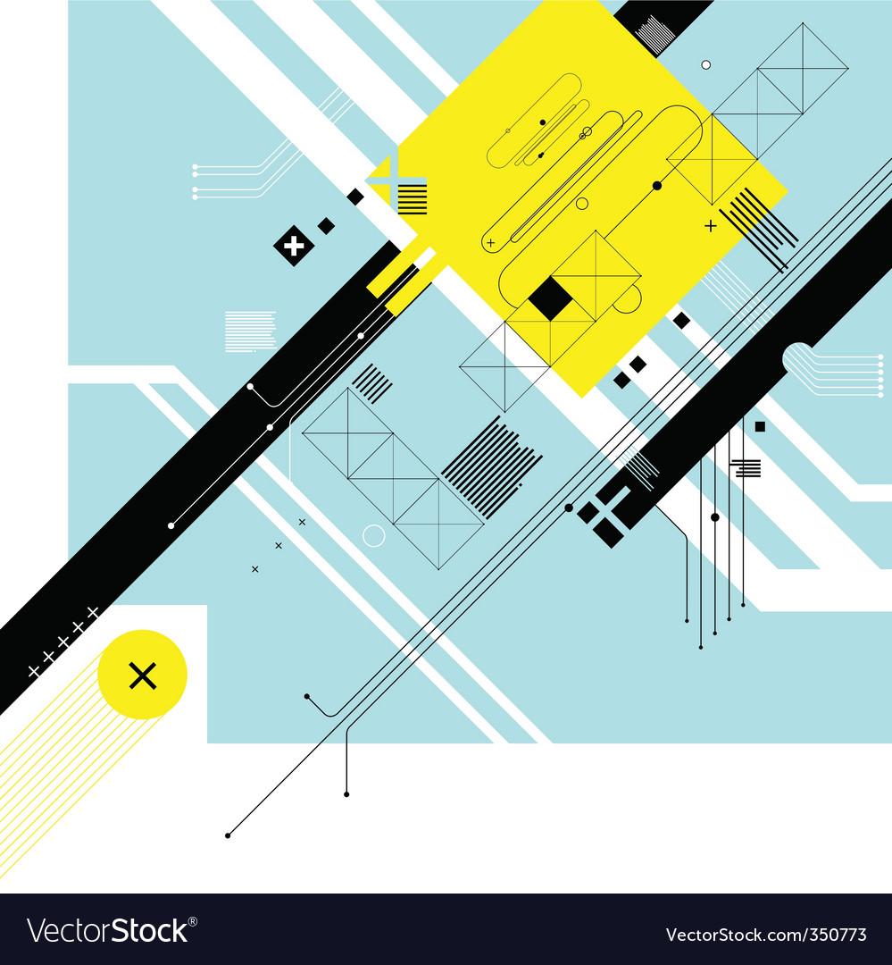 Futuristic digital background vector