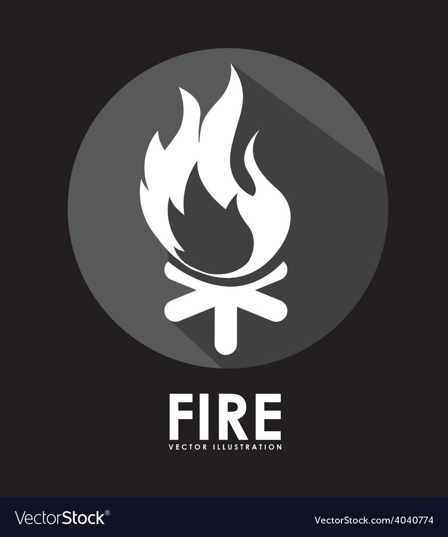 Campfire signal vector