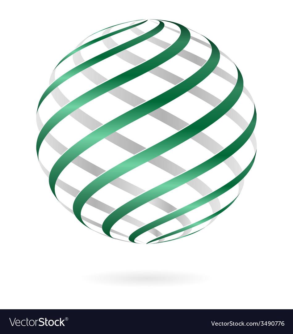 Spiral logo ball vector