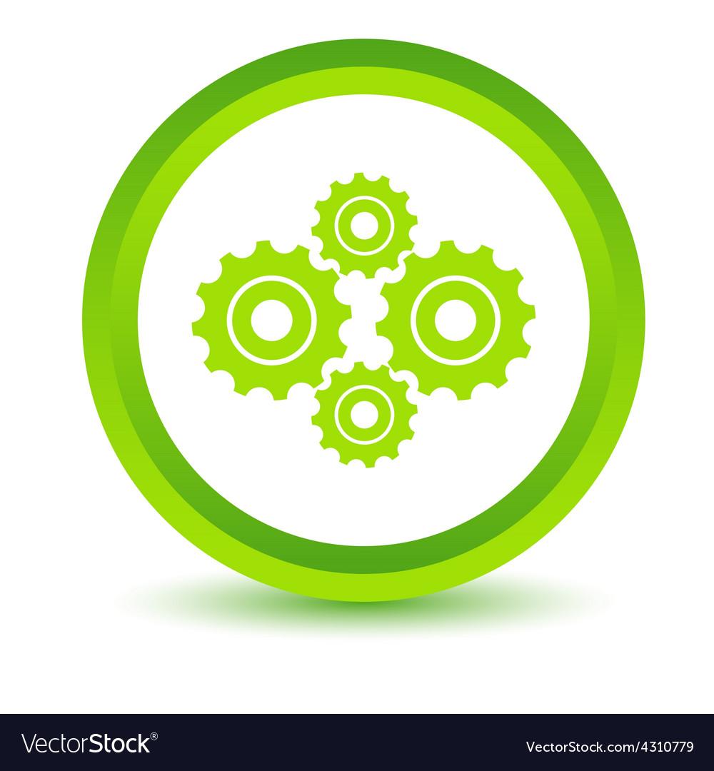 Green mechanism icon vector