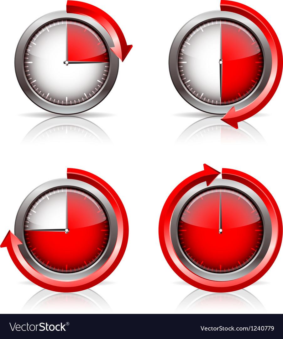Set of timer clocks vector