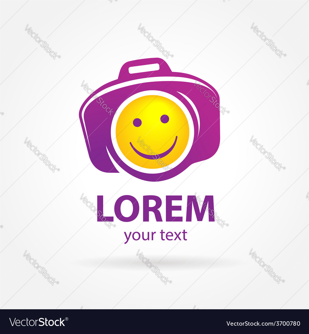Photo smile symbol sign photography camera vector