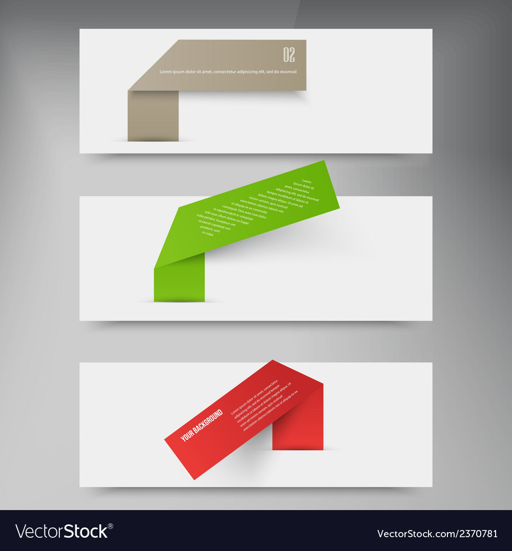 Set of blank rectangle labels acute corners vector