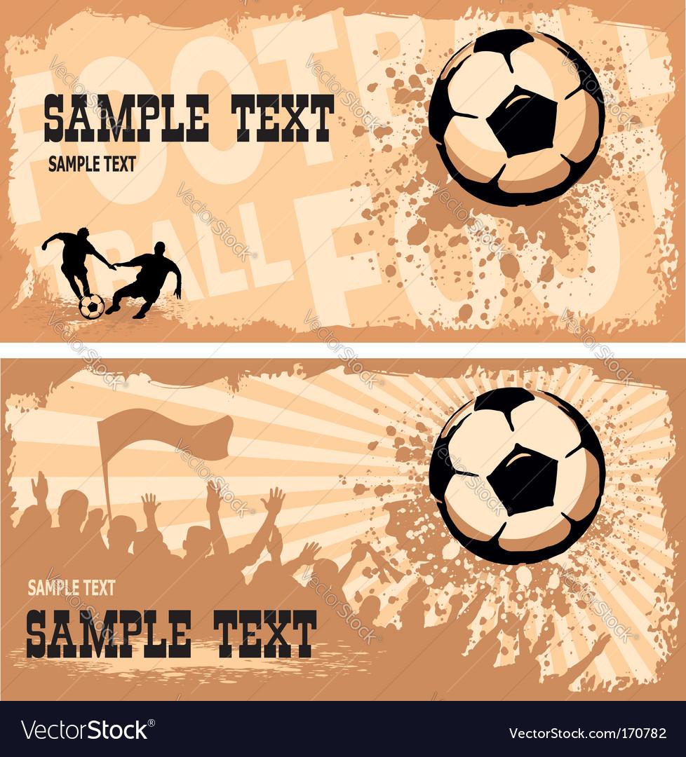 Soccer ball on grunge background vector