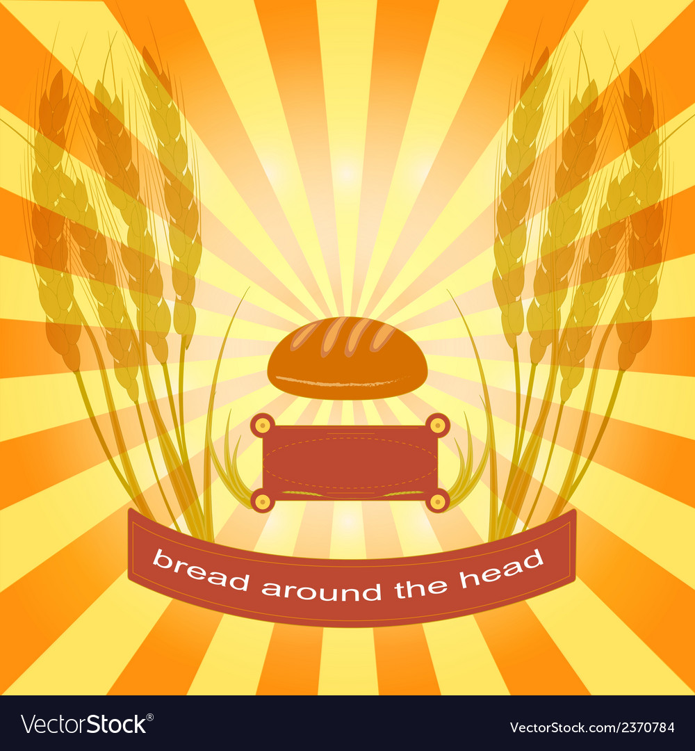 Bread and ear vector