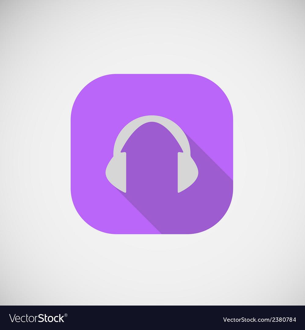 Flat icon cordless headphone vector