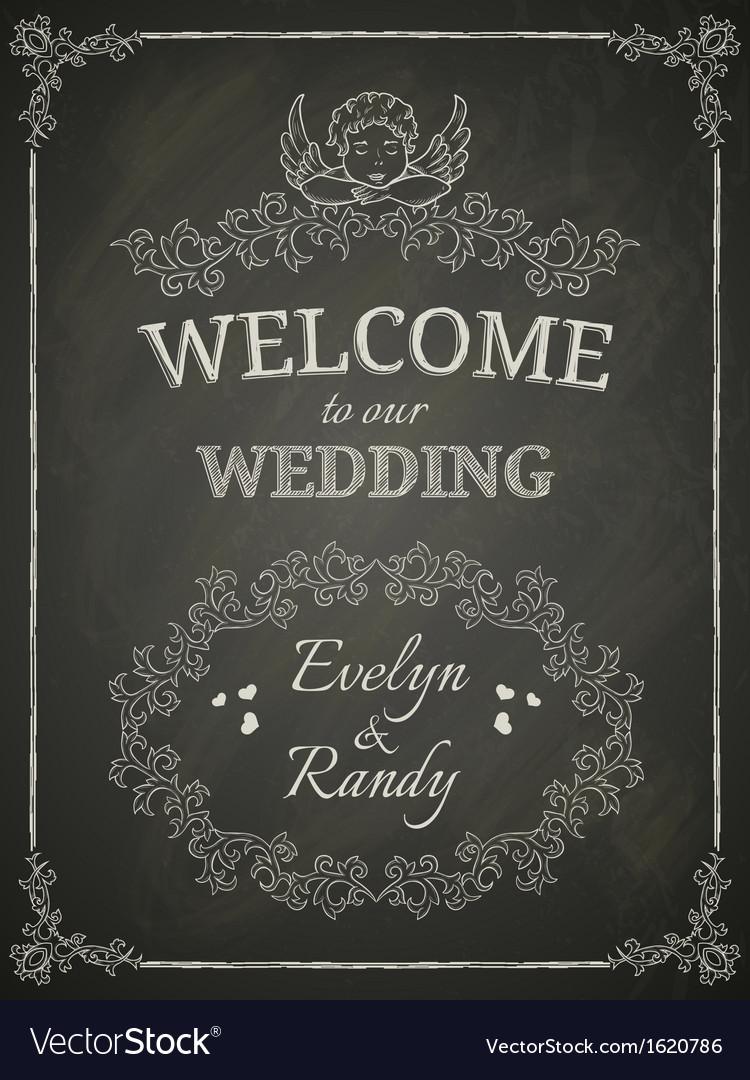 Wedding poster vector