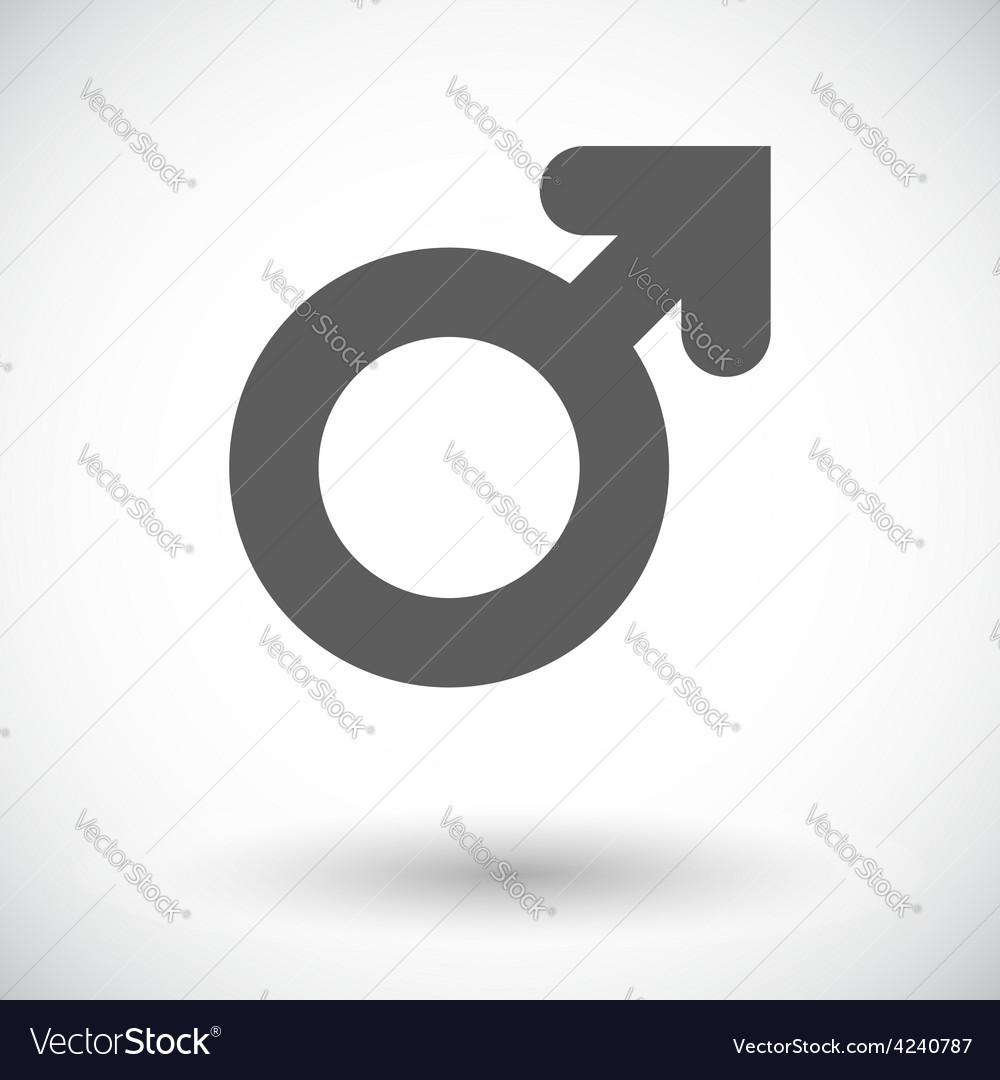 Male gender sign vector