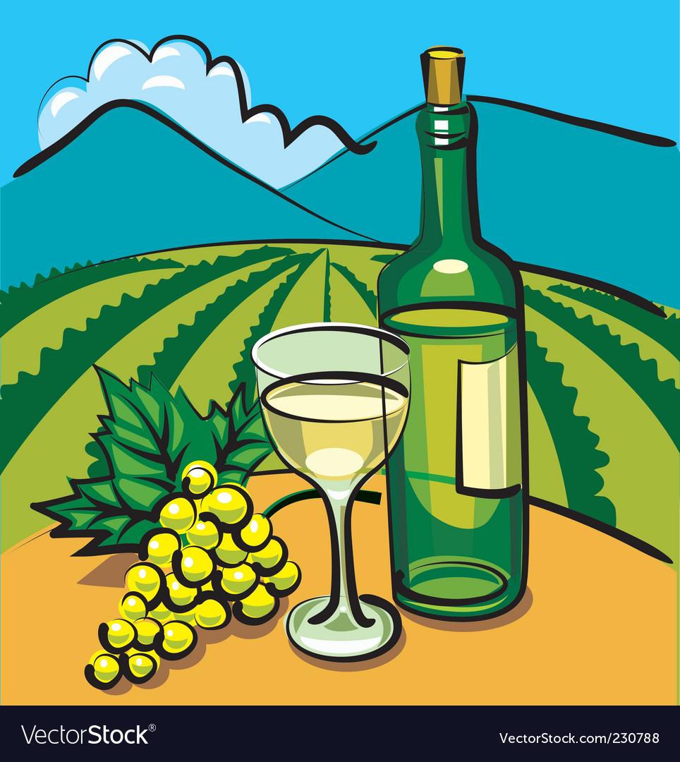 Table wine vector