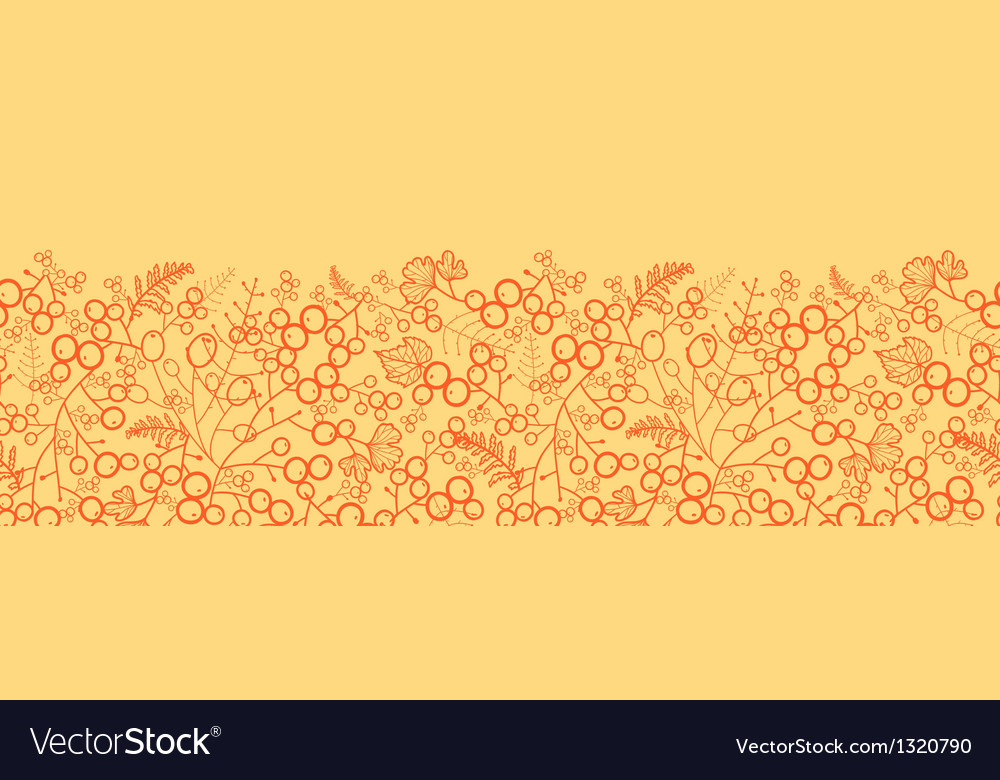 Sweet berries horizontal seamless pattern vector