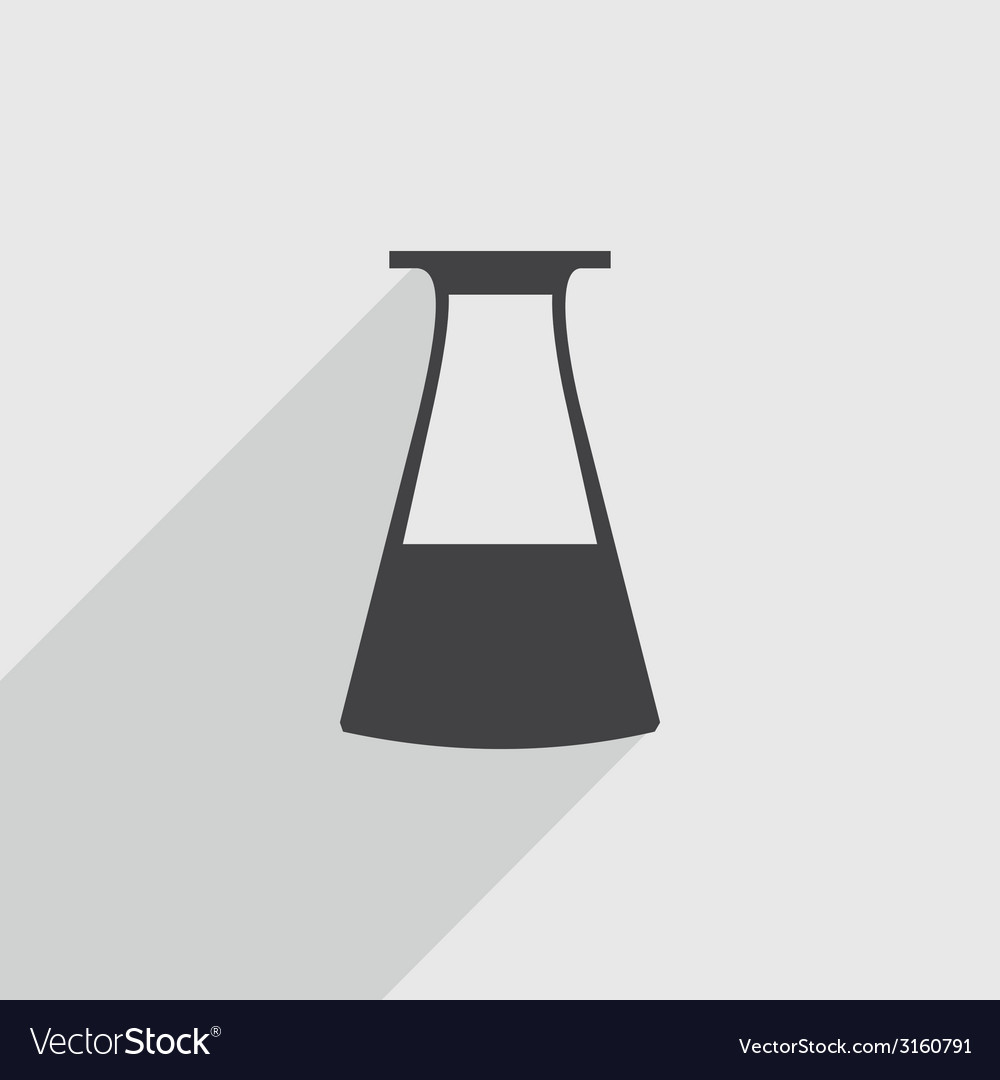 Flask icon vector