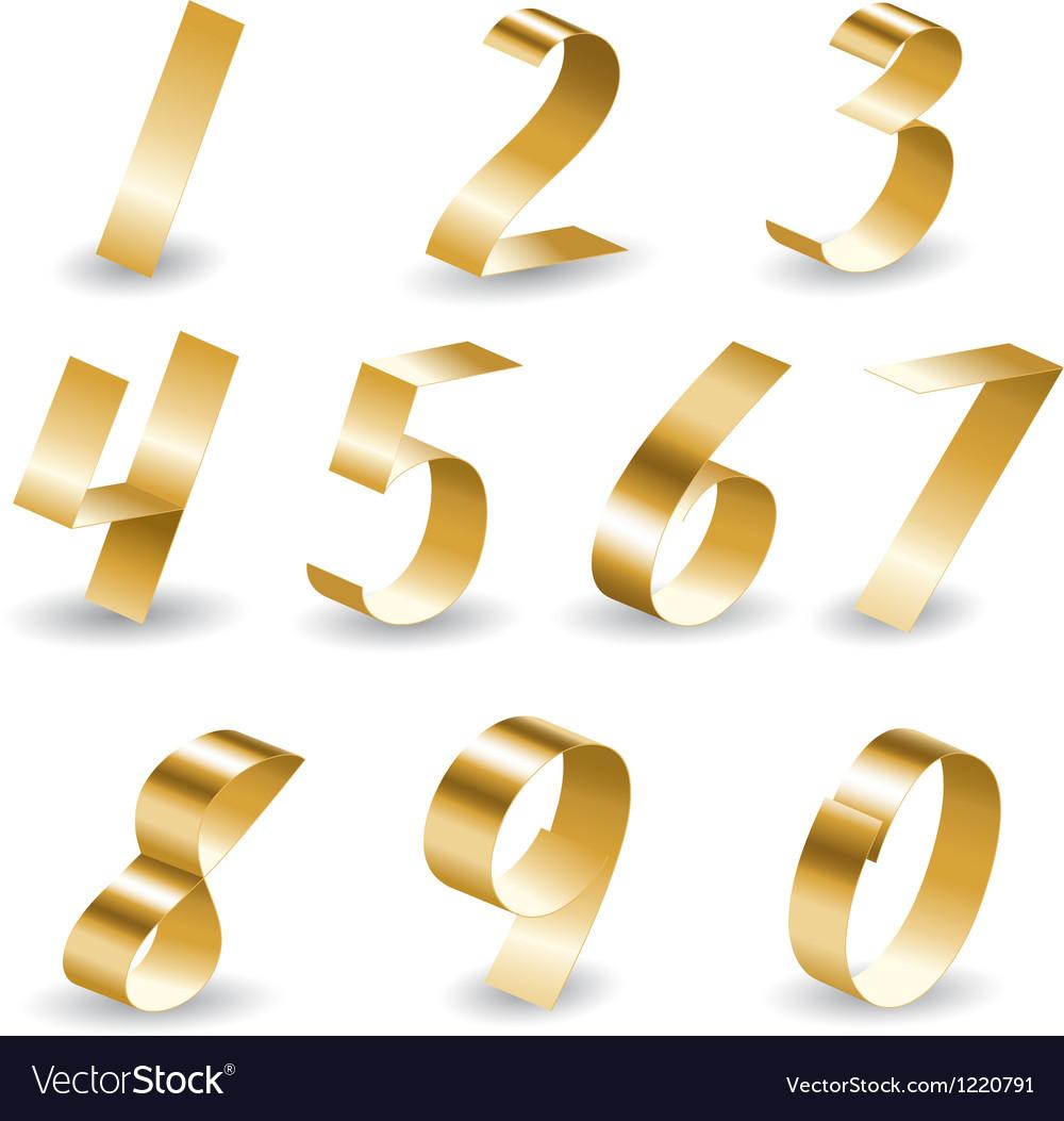 Ribbon number set vector