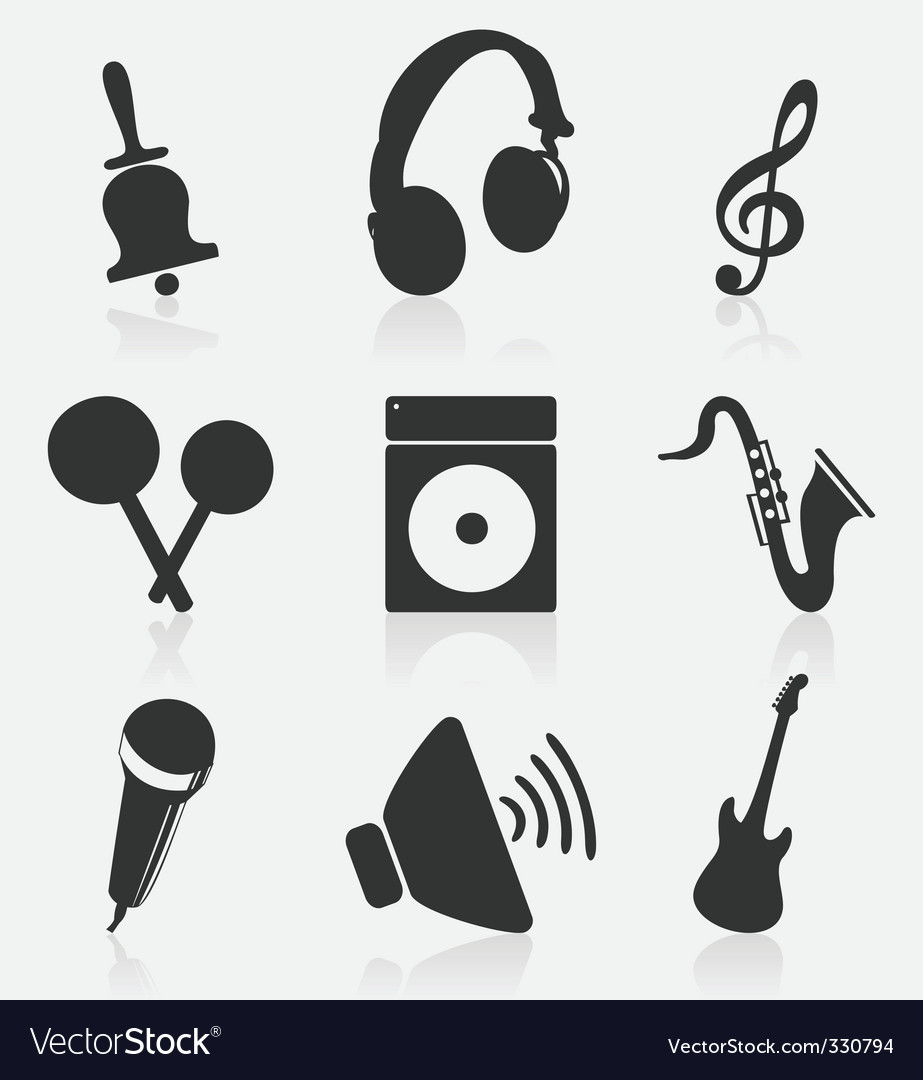Musical icons2 vector