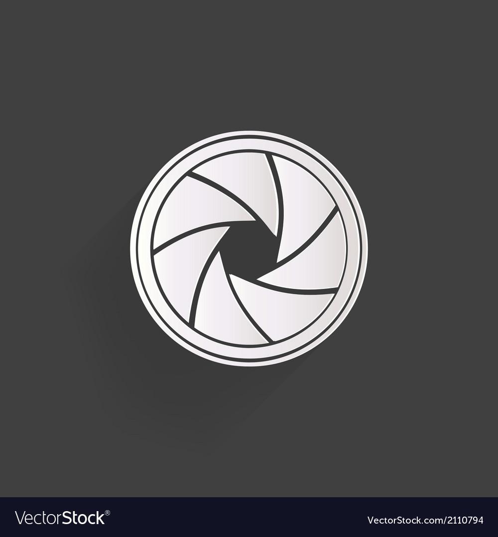 Photo camera diaphragm icon vector
