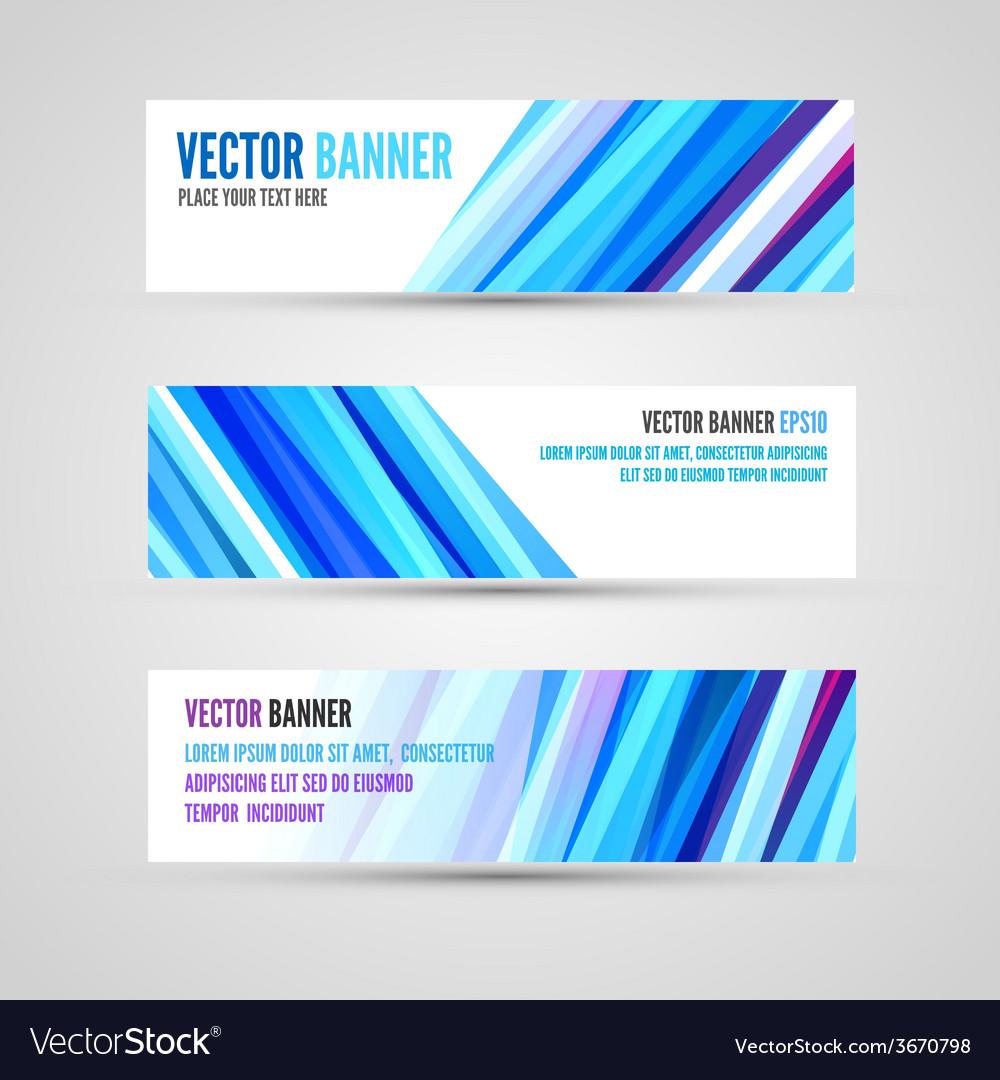 Banners blue ocean vector