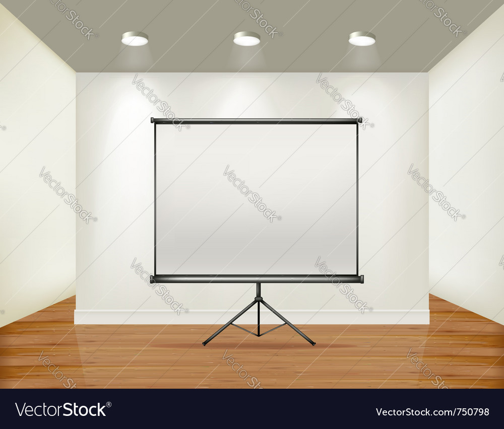 Empty presentation screen vector