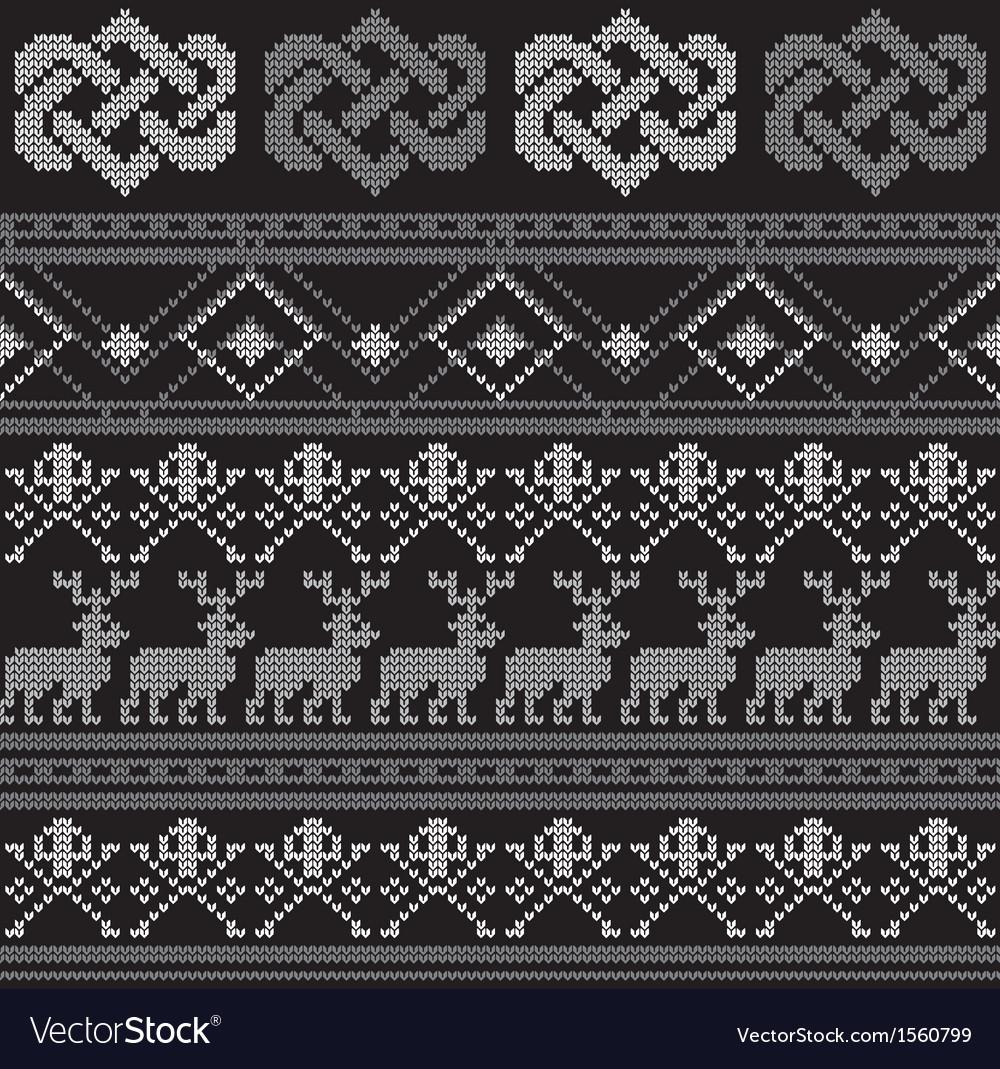 Pattern crochetn vector