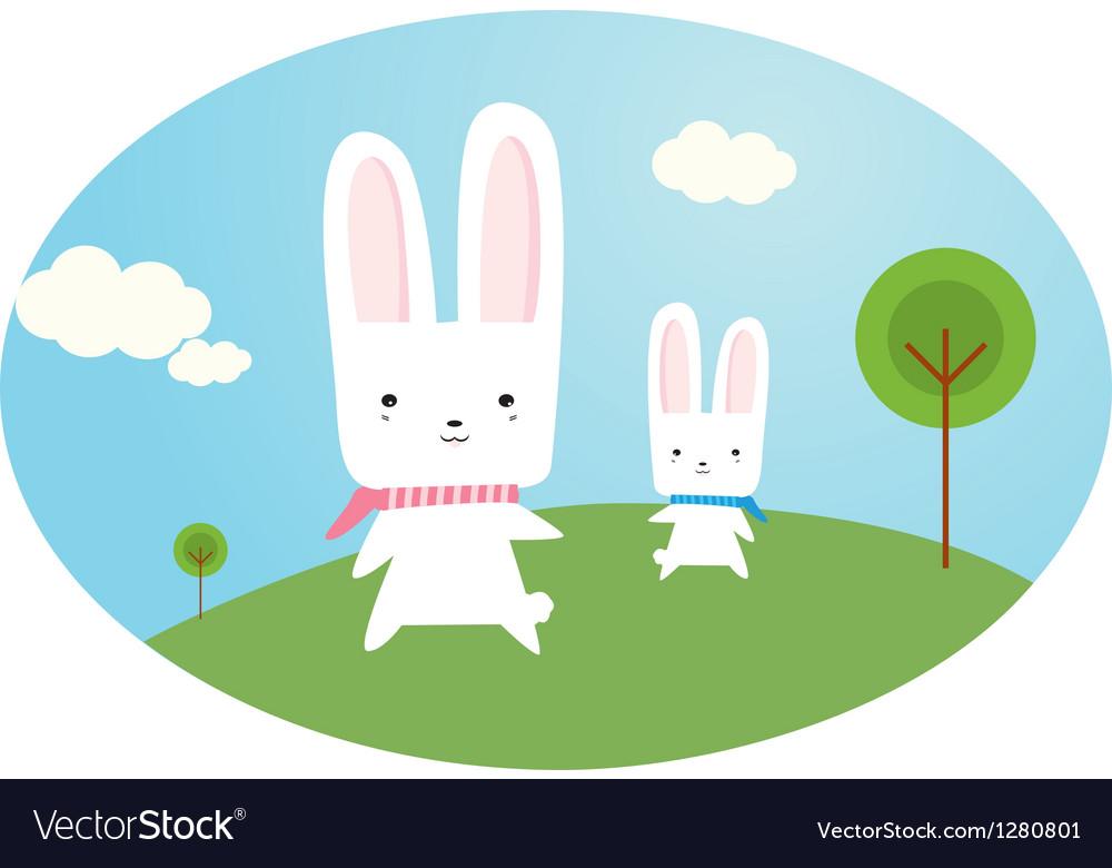 Happy bunny vector