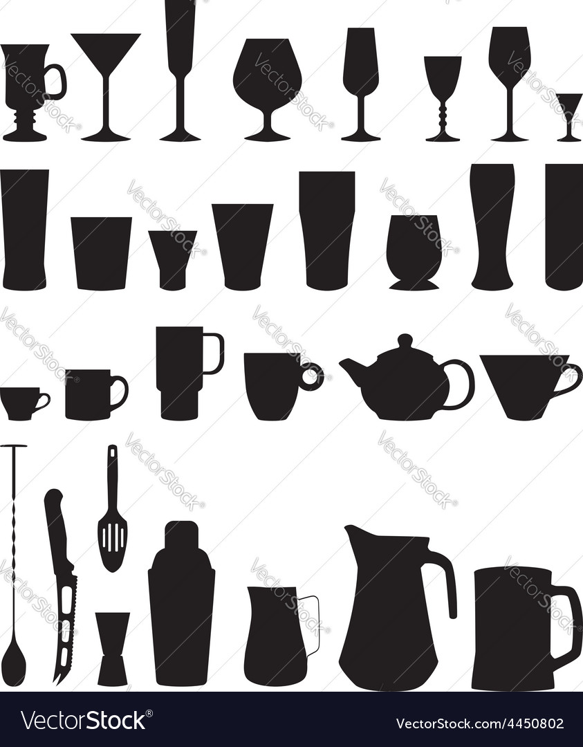 Bar glasses cups icpn vector