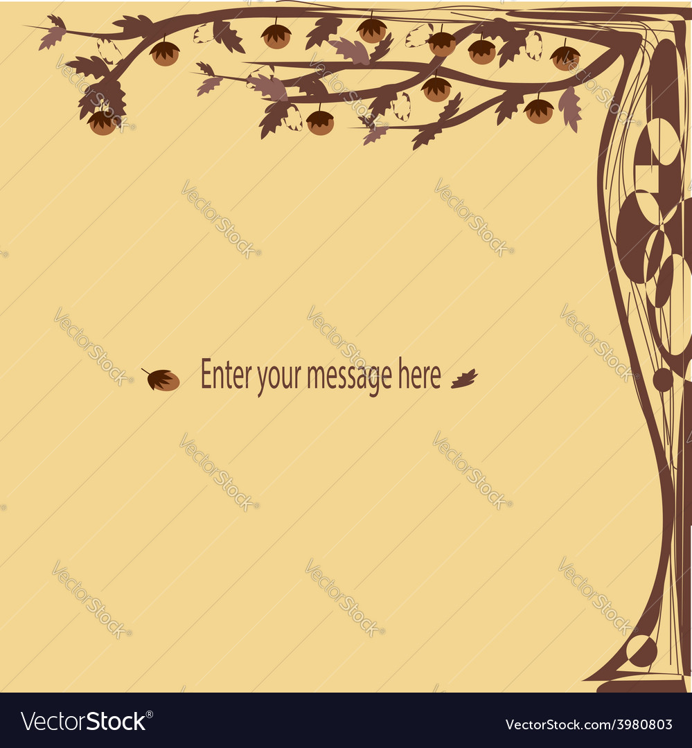 Brown fantasy cards tree vector