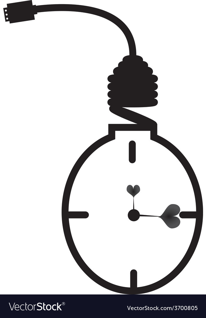 Energy saving bulb concept of clock vector