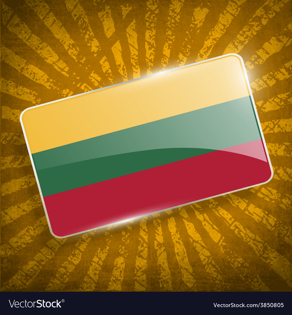 Flag of lithuania with old texture vector