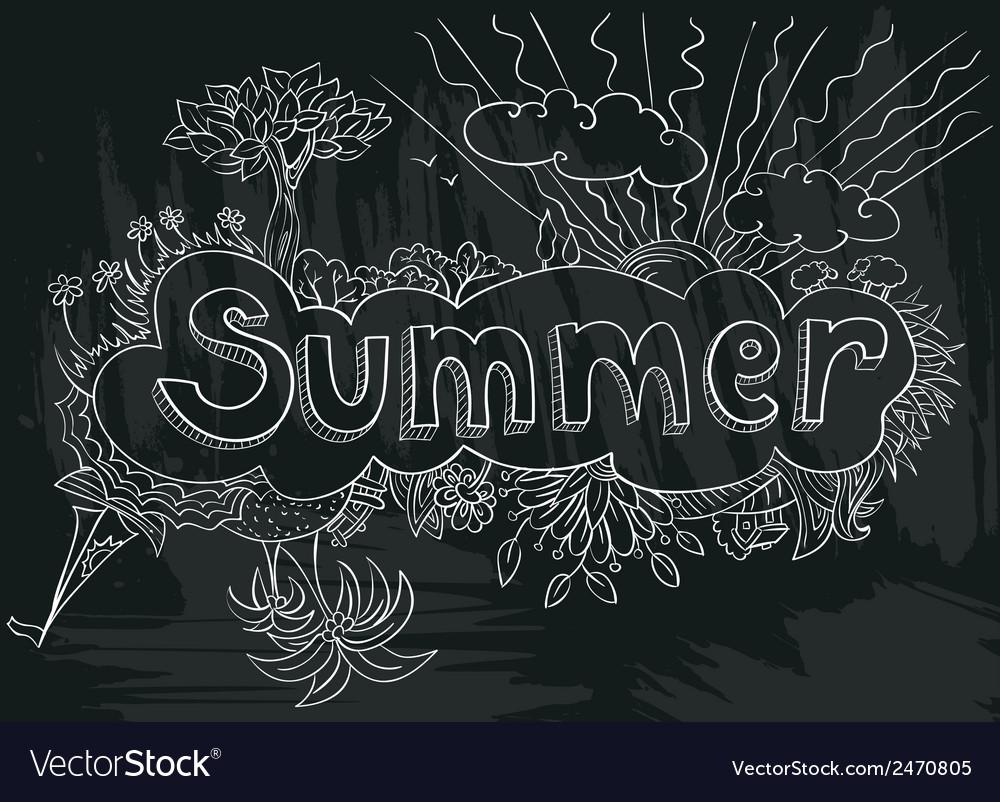 Summer doodle vector