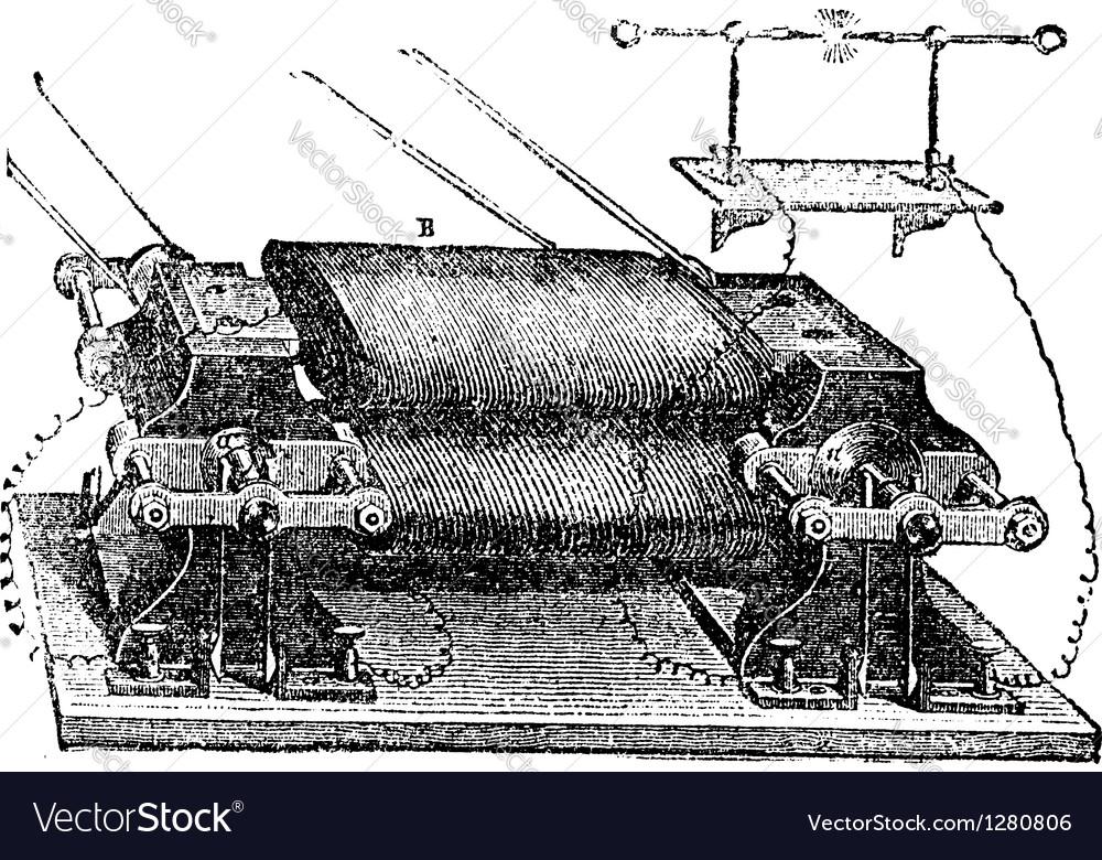 Ladds machine vintage engraved vector