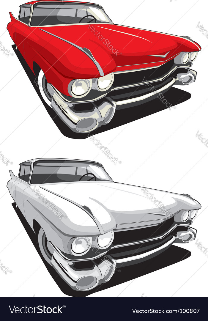 American retro car vector
