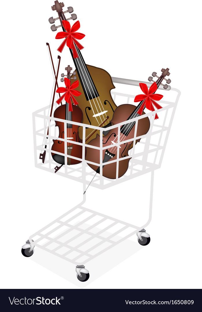 Beautiful musical instrument strings vector