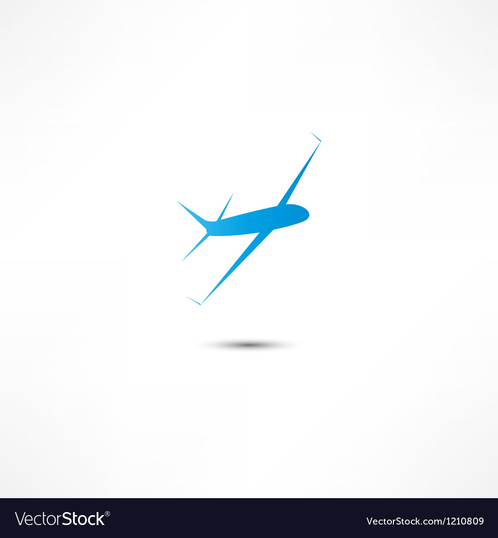 Flying airplane vector