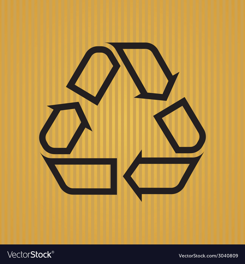Recycling symbol outlined vector